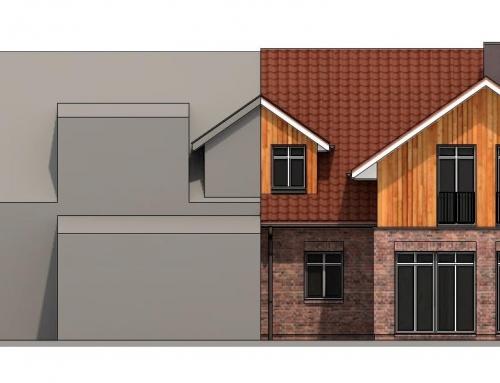 Einfamilienhaus an Nachbarbebauung